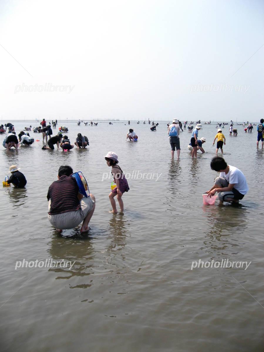 Shellfish gathering Photo