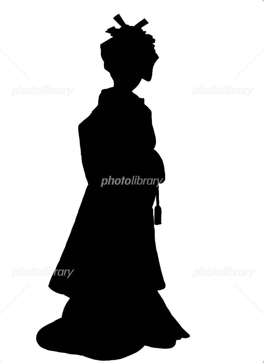 花嫁のシルエット イラスト素材 [ 1202217 ] - フォトライブラリー