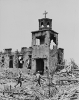 Battle of Okinawa: ruins and it turned into church Stock photo [1196651] Battle