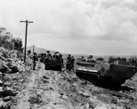 Battle of Okinawa: road muddy in the rain Stock photo [1198549] Battle