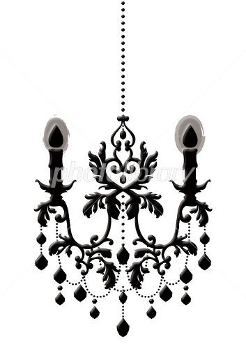 黒シャンデリア イラスト素材 1381135 フォトライブラリー