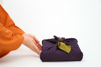 Furoshiki wrapping of orange kimono and purple Stock photo [1385870] Lifestyle