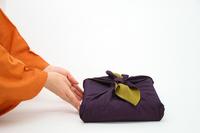Furoshiki wrapping of orange kimono and purple Stock photo [1385870] Lifestyle
