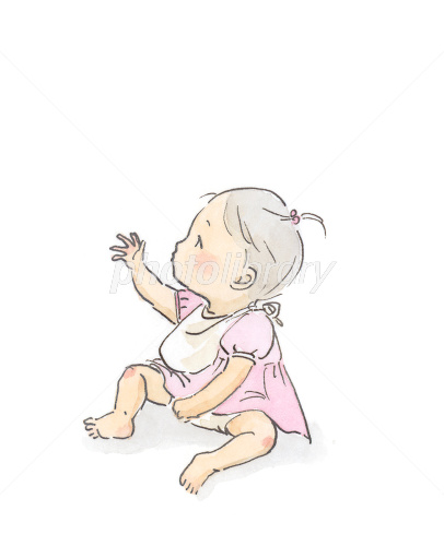 手を伸ばす赤ちゃん イラスト素材 1471855 フォトライブラリー