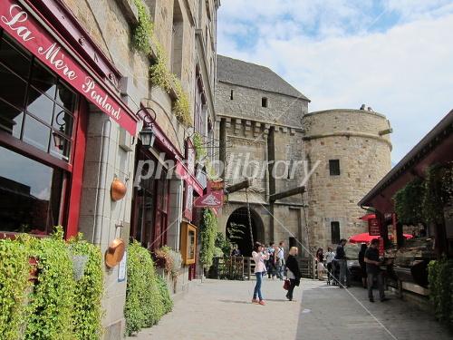 Mont-Saint-Michel streets of Photo