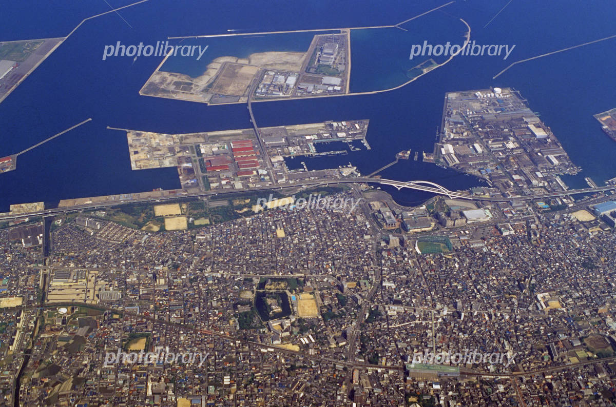 Osaka Kishiwada Aerial Photo