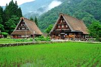 Gokayama Suganuma village after the rain Stock photo [1469626] Gokayama