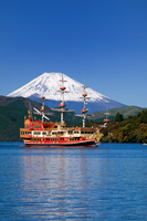 Lake Ashi pirate ship and Mount Fuji Stock photo [1472888] Hakone