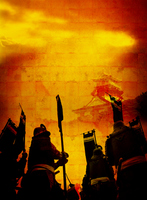 Azuchi Castle and samurai to stain sunrise Stock photo [1477631] Warring