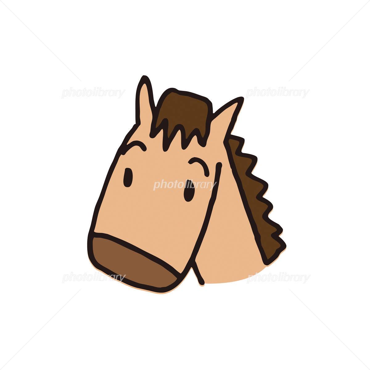 馬の顔のイラスト イラスト素材 フォトライブラリー Photolibrary