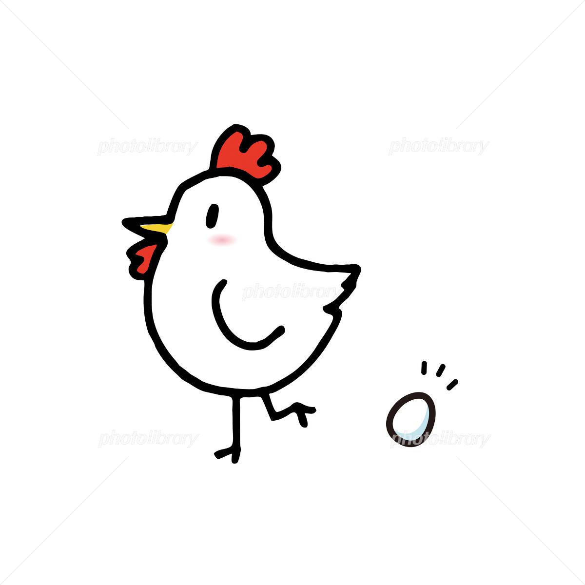 鶏と卵のイラスト イラスト素材 1580883 フォトライブラリー