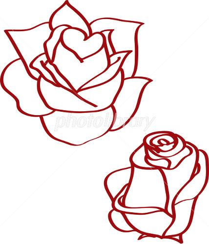 バラのイラスト イラスト素材 1581674 無料 フォトライブラリー