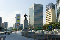 Gwanghwamun Square Admiral Yi Sun-sin image Stock photo [1573706] Korea
