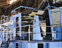 Printing plant, rotary printing machine Stock photo [1574993] Printing