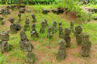 Stone statue group of Korea Jeju Island Hanrimu park Stock photo [1576079] Korea