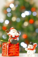 Santa Claus snowman tree Stock photo [1576273] Christmas