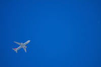 Blue sky and airplane Stock photo [1577174] Airplane