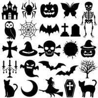 Black Halloween icon [1577268] Black