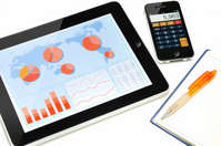 Jobs in the tablet Stock photo [1582666] Tablet