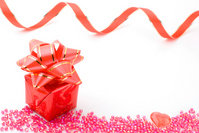 Beads and gift box Stock photo [1583908] Gift