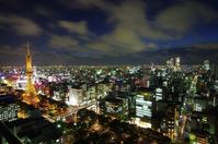 Sakae? Nagoya Station downtown night scene Stock photo [1584110] TV