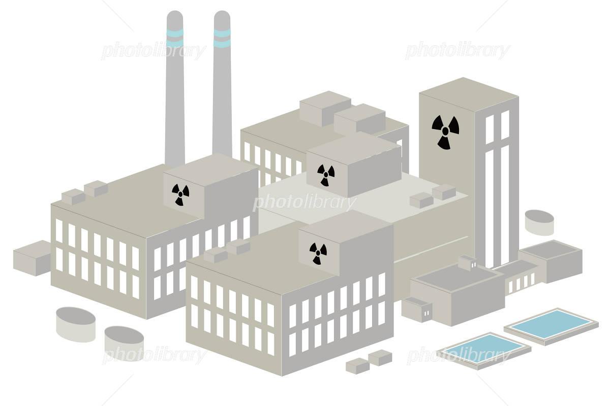 原子力発電所のイラスト イラスト素材 1676516 フォトライブラリー