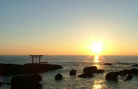 Oarai landscape sunrise Stock photo [1674759] Ibaraki