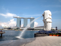 Singapore Merlion and the Marina Bay Sands Stock photo [1675487] Asia