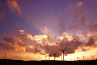 Fukushima Prefecture Nunobiki Plateau Wind Power Magic Hour Stock photo [1676088] Nunobiki