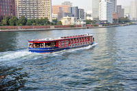 Sumida River water bus from Kachidoki Bridge Stock photo [1682819] Kachidoki
