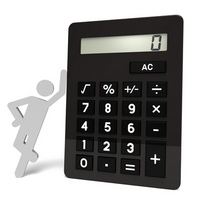 Large calculator and human [1684859] Large