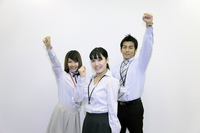 Young office workers to the guts pose Stock photo [1684939] Business
