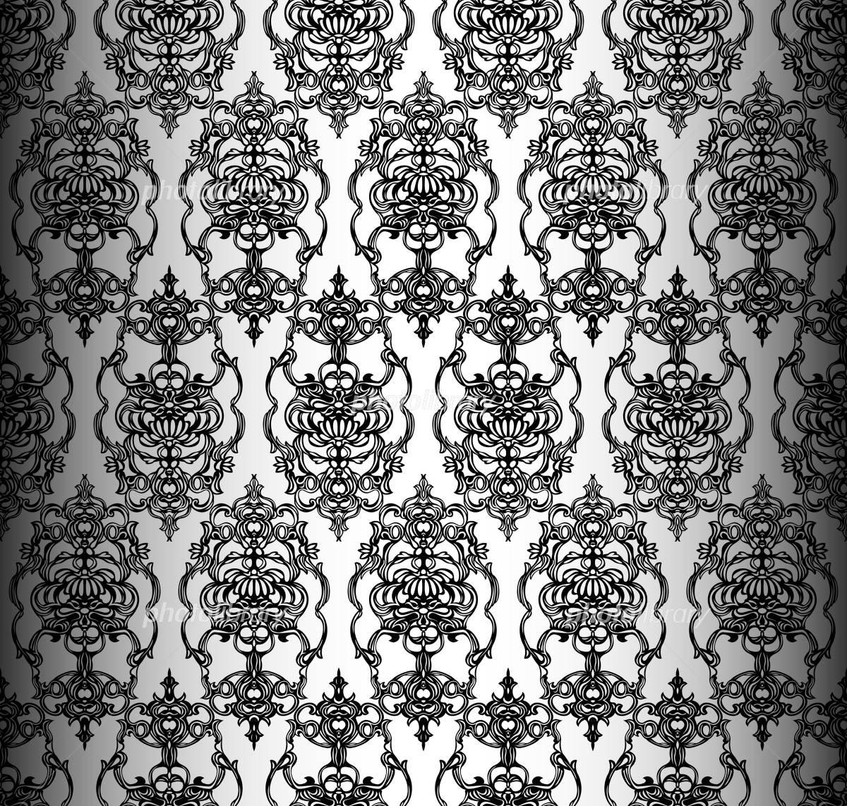 ゴシック調 壁紙 シームレス イラスト素材 1750342 フォトライブ