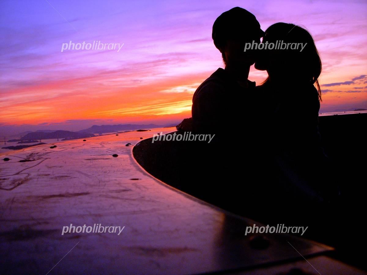 Dusk of two people Photo