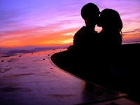 Dusk of two people Stock photo [1751416] At
