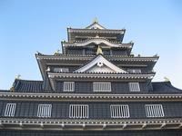 I look up at the Okayama Castle Stock photo [1758631] Okayama