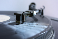 Records and turntable Stock photo [1760983] Records