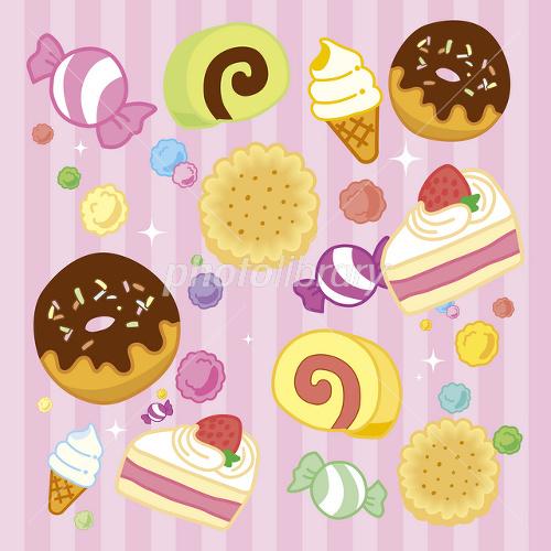 お菓子のイラスト イラスト素材 1849127 フォトライブラリー