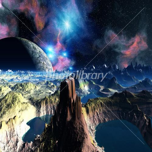 空想宇宙 イラスト素材 1855485 フォトライブラリー Photolibrary