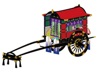 Ox cart-style illustrations of the Heian period stock photo