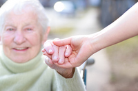 I take the senior of the hands of the smile Stock photo [1859169] Zinnia
