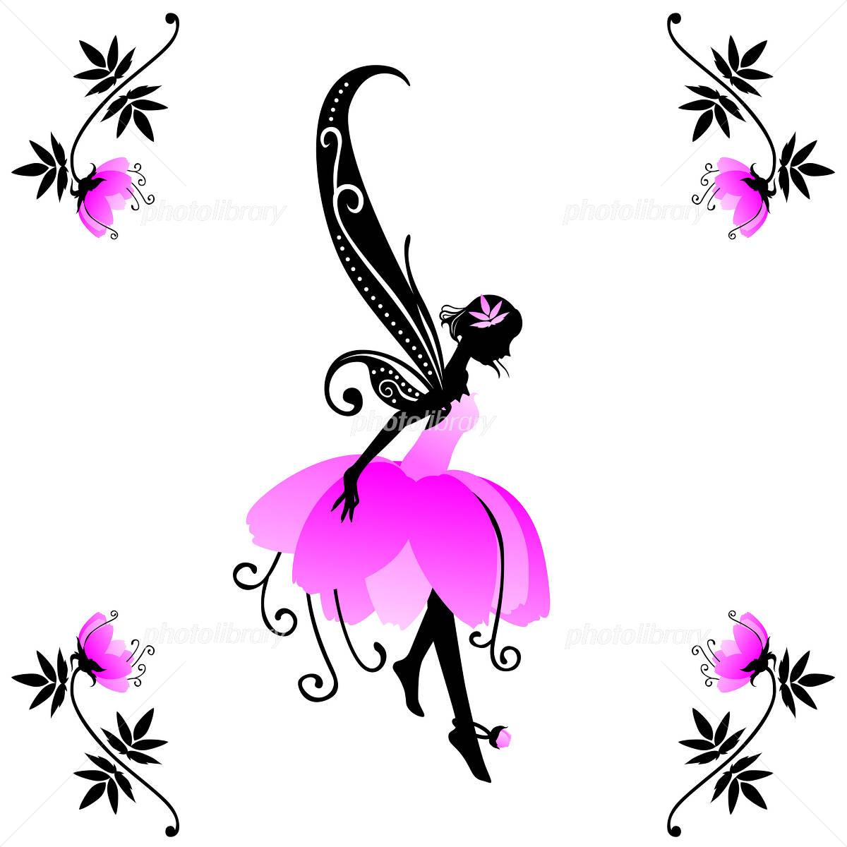 牡丹の花の妖精 イラスト素材 1964110 フォトライブラリー