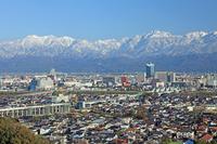 Tateyama mountain range in Toyama city and the new snow Stock photo [1973635] Autumn