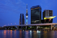 Light-up chic and night scene shine in Sumida River of Tokyo Sky Tree Stock photo [1975648] Landscape