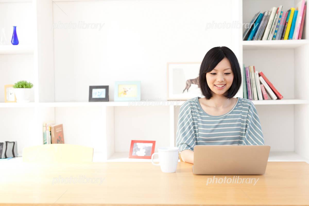 Woman laptop Photo