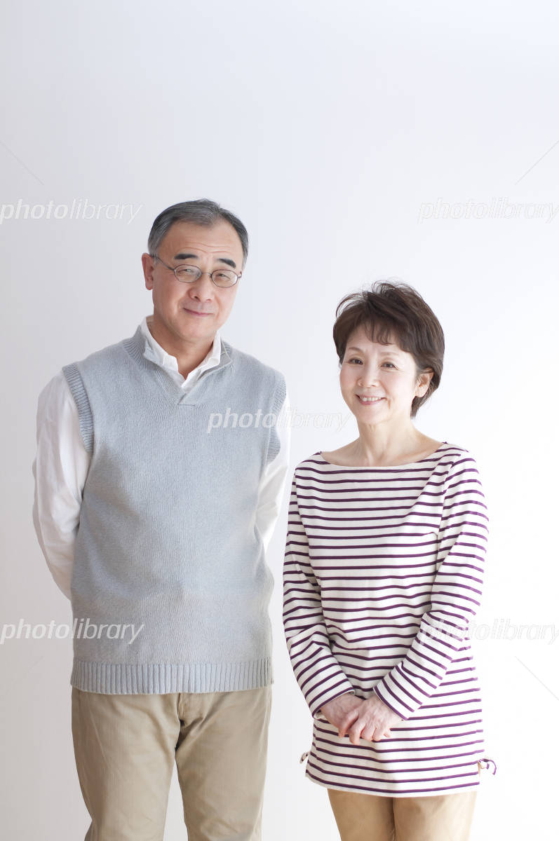 Portrait of smiling senior couple Photo