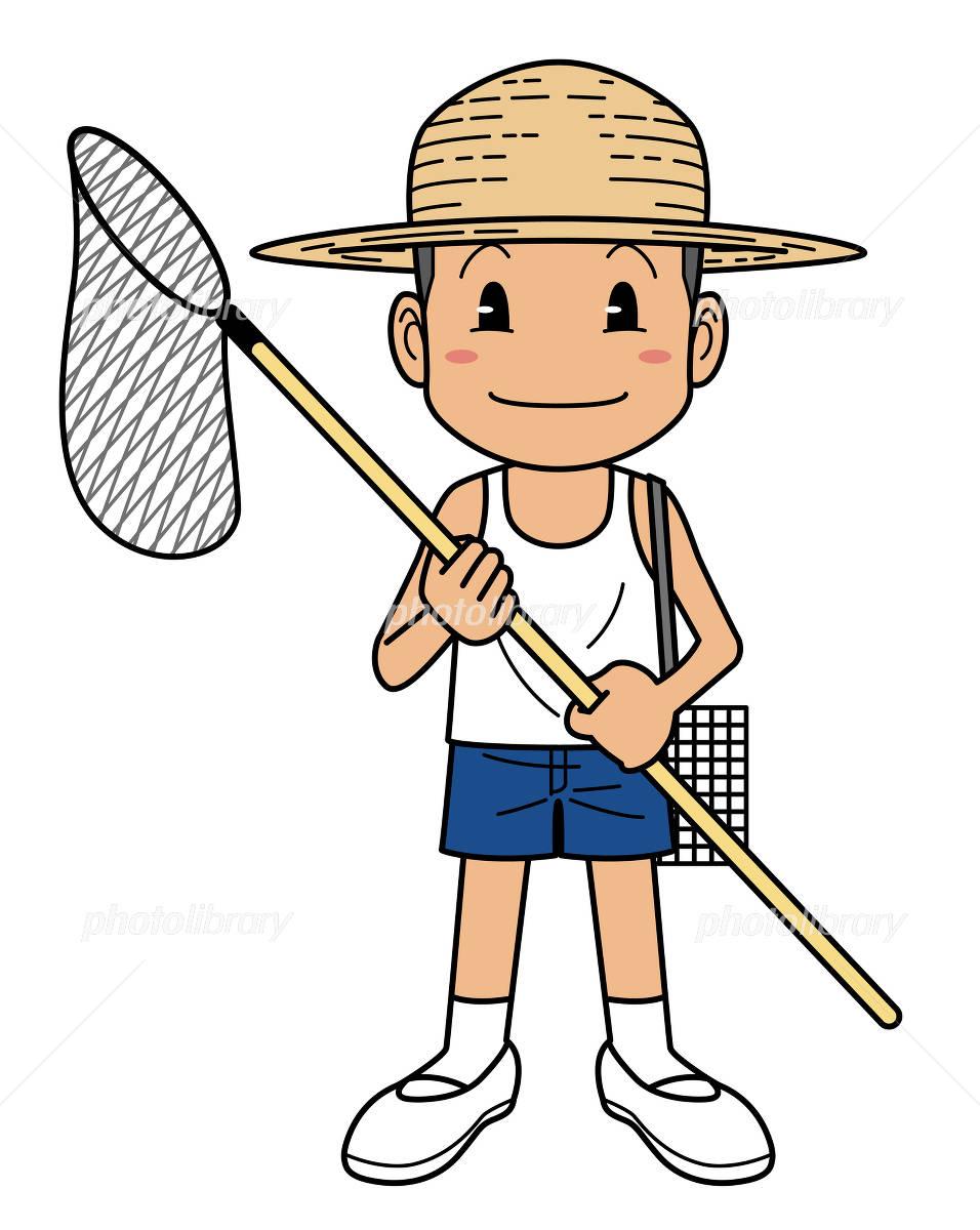 虫取り網を持つ少年 イラスト素材 2078885 フォトライブラリー