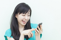 Girl that use the smartphone Stock photo [2067344] Female