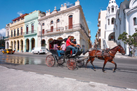 Horse-drawn carriage and Cuban streets Stock photo [2068423] Carriage