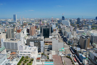 Landscape of Shinano River and Niigata city Stock photo [2074500] Furumachi